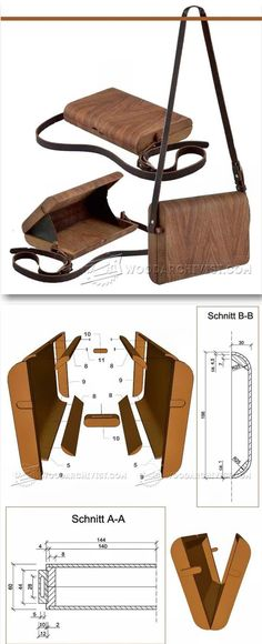 Making Wooden Handbag - Woodworking Plans and Projects - Woodwork, Woodworking, Woodworking Tips, Woodworking Techniques Woodworking Workbench, Woodworking Projects Diy, Popular Woodworking, Woodworking Furniture, Fine Woodworking, Woodworking Classes, Woodworking Books, Woodworking Videos, Workbench Top