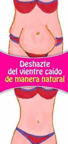Deshazte del vientre caído de manera natural. Bebe esto durante 10 días!