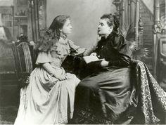 Helen Keller with her teacher Anne Sullivan. Probably early 1900s.[640x483]