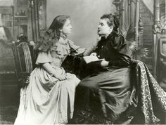 Helen Keller with her teacher Anne Sullivan.