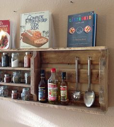 Salvaged Wood Spice Rack