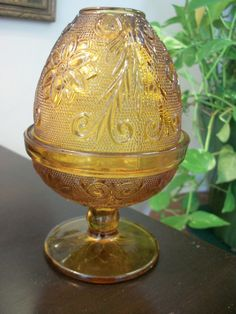 Amber Fairy Lamp Vintage By Prissyantiques On Etsy 11 00