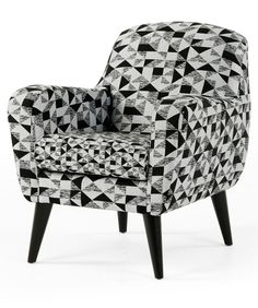This is a bold, statement armchair. The patterned fabric is exclusive to MADE…