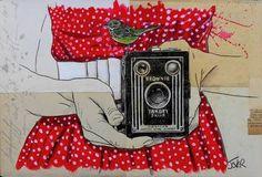 "Loui Jover; Drawing, ""one little moment..."" #art"