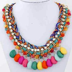 NEW Bohemian Statement Necklace Multi Color Fashion Jewelry Jewelry Necklaces