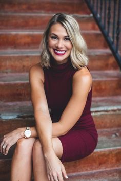 Oh my! Take this Wine Turtleneck Bodycon Dress back to campus and wow your date along with everyone else at the restaurant. Pair with a statement necklace and pumps for a drop dead gorgeous look. Wine Turtleneck Bodycon Dress - Single Thread Boutique, $39.90 #wine #turtleneck #bodycon #dress #gorgeous #ribbed #knit #contours #sleeveless #fitted #modest #trendy #printed #belt #pumps #office #sexy #date #night #bold #lip #color #fall #singlethreadbtq #shopstb #boutique