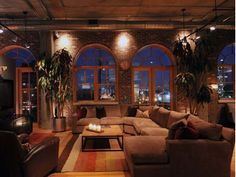 My style of apartment...exposed brick...old large windows...city view..