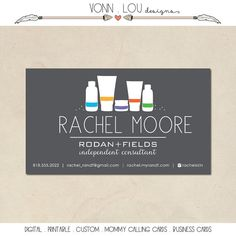 printable rodan and fields business cards by VonnLouDESIGNS