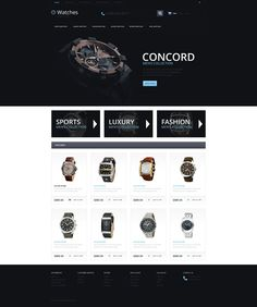 OpenCart Template , Watches