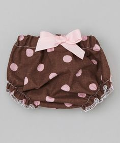 Another great find on #zulily! Brown & Pink Polka Dot Diaper Cover - Infant by Caught Ya Lookin' #zulilyfinds