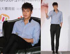 Minho photo shoot at Taipei press conference. 20130720.