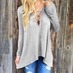 ❗Long sleeve loose hoodie shirt Material: polyester Available size: 2, 4, 6, 8 Tops Tees - Long Sleeve