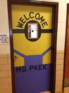 Minion door...welcome back to school