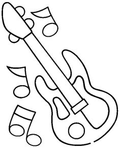 Printable Guitar Music Coloring Pages For Kids