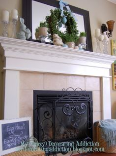 My Easter Mantel {and other touches!)