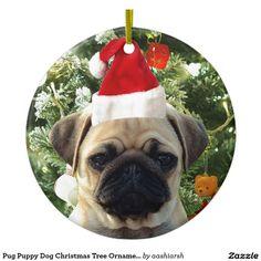 #Pug #Puppy #Dog #Christmas Tree #Ornaments Snowman #pet #christmas2016 #christmasornaments
