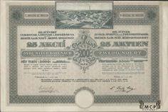 A1153 / Muzeum cennych papiru / Hejčínský cukrovar, lihovar a drožďárna dříve Bratří A. & H. Mayů, akc.spol./ Hejciner ZuckefabriK, Spiritusfabrik und Hefefabrik, vormals Brüder A. und H. May AG / akcie na majitele (Inhaberaktie) 5000 Kč (25x200 Kč), Olomouc (Olmütz) 1.6.1925 / AZP3CZ092 Stocks And Bonds, Card Templates, Maya, Sugar, Personalized Items, Cards, Card Designs, Map, Playing Cards