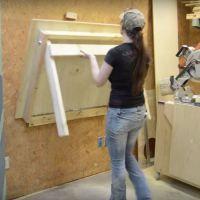Impressive Build Your Own Garage Workbench Ideas. Irresistible Build Your Own Garage Workbench Ideas. Workbench Plans Diy, Mobile Workbench, Folding Workbench, Woodworking Workbench, Woodworking Tips, Workbench Stool, Workbench Organization, Garage Workbench, Industrial Workbench