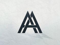 AA Logo logo logotype a futura tangled letters illustrator ai vector Business Logo Design, Brand Identity Design, Graphic Design Typography, Branding Design, Corporate Branding, Monogram Design, Monogram Logo, Music Logo, Initials Logo