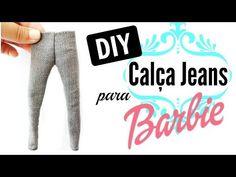 Como fazer calça Jeans com molde para Barbie e bonecas similares - YouTube Barbie Dolls Diy, Diy Barbie Clothes, Barbie And Ken, Diy Doll, Doll Toys, Diy Clothes, Girl Dolls, Barbie Barbie, Barbie Stuff