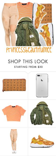 """""""🐆"""" by prvncessbeautifulmee ❤ liked on Polyvore featuring MCM and NIKE"""