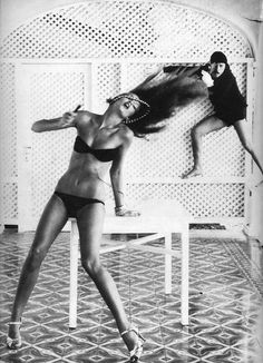 Jerry Hall and Antonio Lopez by Norman Parkinson, 1975