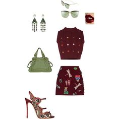 #Clueless by atlienfashioned on Polyvore featuring polyvore, fashion, style, Preen, Dsquared2, Chloé, Jean-Paul Gaultier, Christian Dior and Charlotte Tilbury