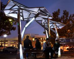 Urban Solar Seating, just one more idea to use spare space. This could be used on bus stops and Community shelters anywhere.