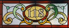 Stained glass address panel