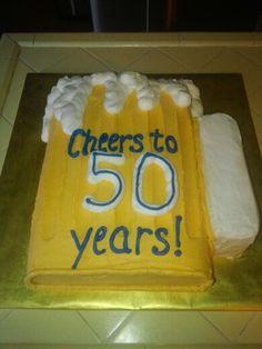 Beer themed birthday cake