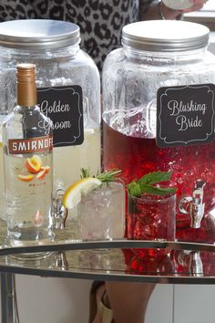 Planning your wedding? These simple and delicious his and hers punches make the perfect speciality wedding cocktail for both weddings and rehearsal dinners.  Ingredients: 1.5 cups SMIRNOFF PEACH, 3 Cups Cranberry Juice Cocktail, 3 Cups Lemonade. Serves 8.