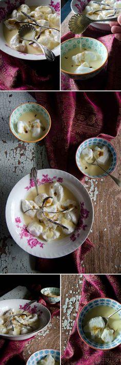 Šnenokle - Creamy custard & airy clouds of meringue | heneedsfood.com