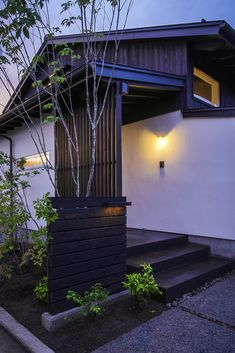 Image 6 of 23 from gallery of House Matsumoto Okada / MTKarchitects. Photograph by Yuko Tada Japan Architecture, Chinese Architecture, Sustainable Architecture, Residential Architecture, Japanese Style House, House Entrance, Cabin Homes, Beautiful Buildings, Exterior