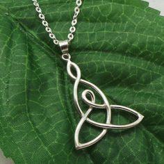 Zilveren Keltische moeder kind knoop ketting  cadeau door yhtanaff