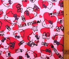 Hello Kitty fabric 1/2 yard $19.90