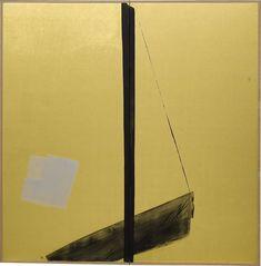 相聞 ANCIENT SONG / 1700×1684mm / 墨、胡粉、金箔、和紙 Sumi,Paris White,Gold Leaf on Paper / 2002
