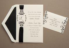 Ribbon Wedding Invitations by PRINTAWAY, INC.