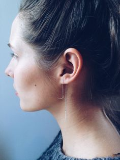 Make a statement with a delicate threaded earring. #EtsyJewelry