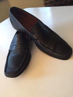 6a5102b1acc Allen Edmonds Black Full Grain Leather Mens Loafers  fashion  clothing   shoes  accessories