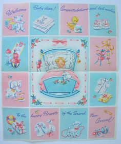 Vintage Card for Baby