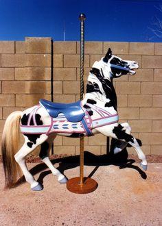 Pinto Carousel Horse