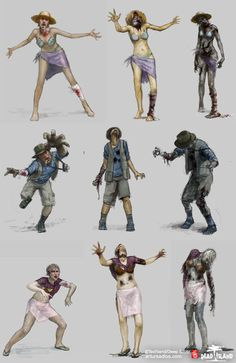 Dead Island Concept Art by Artur Sadlos, via Behance