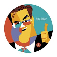 Bravo goes to Montreal Mayor Denis Coderre for the successful launch of 375Mtl.   Illustration by Pablo Lobato. #375MTL #mtlmoments #AGIACoasterPromo