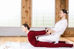 Thai massage includes some partner yoga poses.