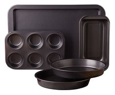 Sunbeam 76893.05 Kitchen Bake 5-Piece Bakeware Set, Carbon Steel >> Want to know more, visit : bakeware
