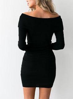 Material: Cotton, PolyesterSilhouette: SheathDresses Length: Above Knee, MiniSleeve Style: RegularWaistline: NaturalNeckline: Slash Neck SKU:1833783