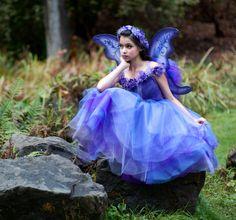 Fairy Princess Flower Sleeve Tutu Dress Costume by Ella Dynae, $210.00 #wings
