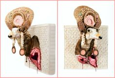 Be still my heart!!! Valentine's Day came early! #SCAD alumnus Marcus Kenney just delivered this mixed media piece to us! You must see this! Reclaimed taxidermy deer head, $8500 www.shopscad.com