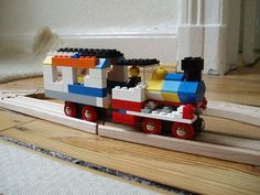 Picture of Lego + Brio hybrid wooden railway (lets call it BREGO!)