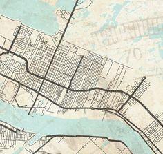 BIRMINGHAM AL Canvas Print AL Alabama Vintage Map Birmingham City - Oversized vintage maps